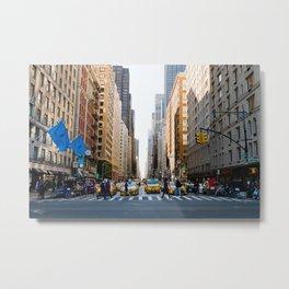 New York Minute Metal Print