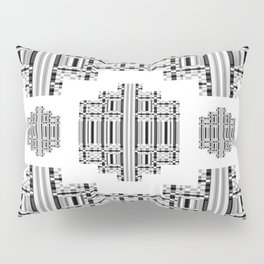 Greek Key - Black and White 3 Pillow Sham