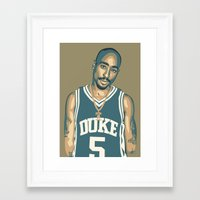 tupac Framed Art Prints featuring TUPAC by UCArts