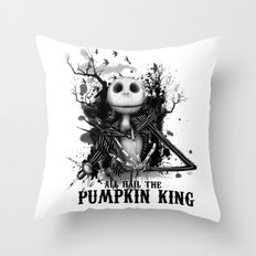 All Hail the Pumpkin King Throw Pillow