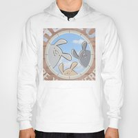 bunnies Hoodies featuring Sweet bunnies by Artemio Studio