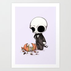 Smashing Pumpkin King Art Print