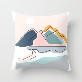Minimalistic Landscape Throw Pillow