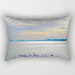 WITH YOU ALONE Rectangular Pillow