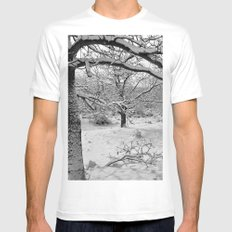 Snowland White Mens Fitted Tee MEDIUM
