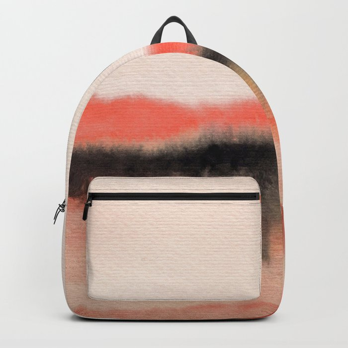 Watercolor abstract landscape 07 Backpack