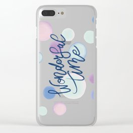 Wonderful Time #society6 #xmas Clear iPhone Case