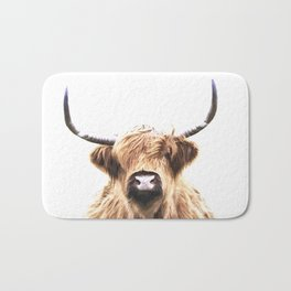 Highland Cow Portrait Bath Mat