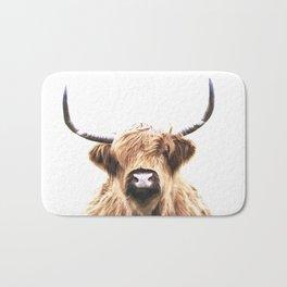 Highland Cow Portrait Bath Mat