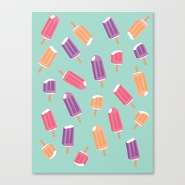 Rainbow Colorful Popsicle Pattern 2 Canvas Print