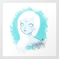 cancer Art Prints featuring CANCER ♋ by ⋆ cla ⋆