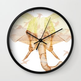 X-ray Art Elephant Wall Clock