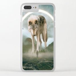 aegis   wolf Clear iPhone Case