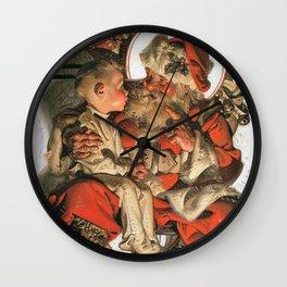 Joseph Christian Leyendecker - Christmas Eve - Digital Remastered Edition Wall Clock