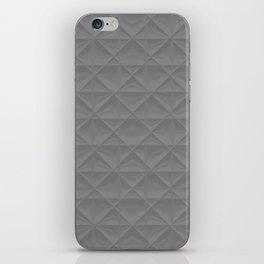 gray grid iPhone Skin