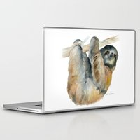 sloth Laptop & iPad Skins featuring Sloth by Susan Windsor