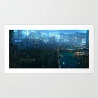 Bridge city Art Print