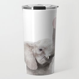 Bubble Gum Baby Elephant Travel Mug