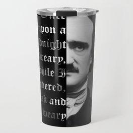 Edgar Allan Poe - word ard Travel Mug