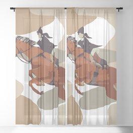 Horse Rider  Sheer Curtain