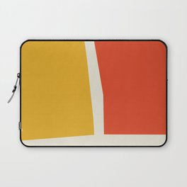 cutout shapes abstract mid century illustration - Mid century modern, mid century wall art, mid cent Laptop Sleeve