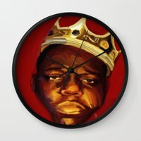 biggie Wall Clocks featuring biggie by Cree.8
