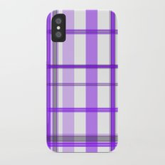 Shades of Purple and White iPhone X Slim Case