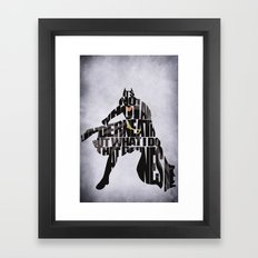 Batman Framed Art Print