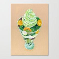Matcha Parfait Canvas Print
