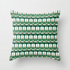 American Football Green and White Throw Pillow