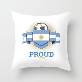 Football Argentines Argentina Soccer Team Sports Footballer Goalie Rugby Gift Throw Pillow