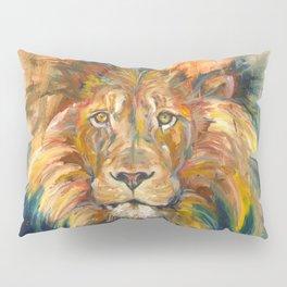 Lion Oil Painting Pillow Sham