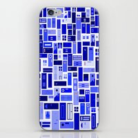 doors iPhone & iPod Skins featuring Doors - Blues by Finlay McNevin