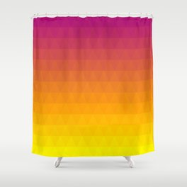 Pink and Yellow Ombre - Flipped Shower Curtain