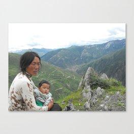 Grandmother Tibet Canvas Print