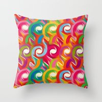 ikat Throw Pillows featuring Ikat by Helene Michau