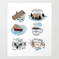 twin peaks Art Prints featuring // twin peaks // by // PIGEON //