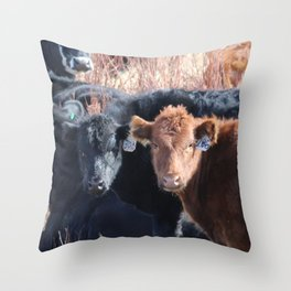 Moo Times Two Throw Pillow