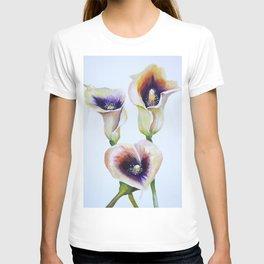 Sublime Bouquet Arum Calla Lilies in Watercolor T-shirt