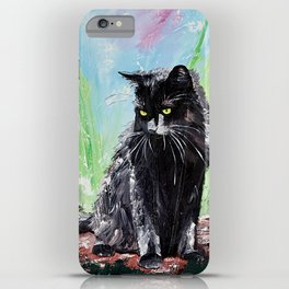 My little cat - kitty - animal - by LiliFlore iPhone Case