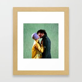 Singin' in the Rain - Green Framed Art Print