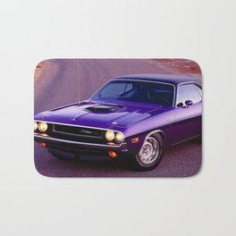 1970 Plum Crazy Purple 426 Hemi Challenger RT Bath Mat