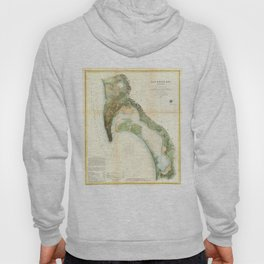 Vintage Map of The San Diego Bay (1857) Hoody