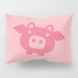 Pink Flying Pig Pillow Sham