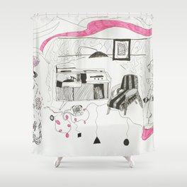 Pink Clouds Shower Curtain