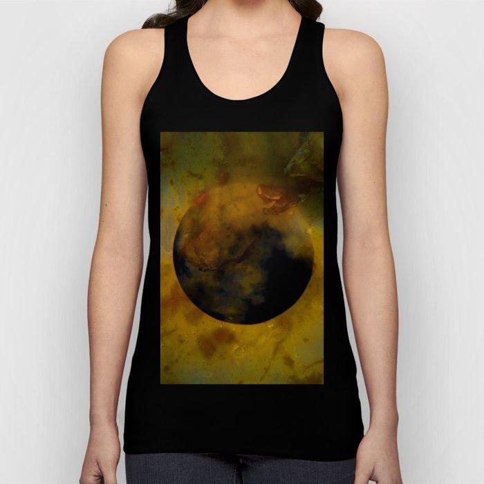 Abstract Moon Unisex Tank Top