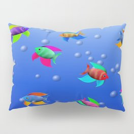 Bright Tropical Fish Pillow Sham