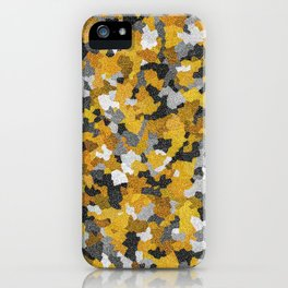 Gold atoms iPhone Case