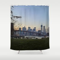 dumbo Shower Curtains featuring dumbo by danielle marie