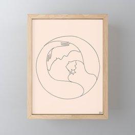 Moon lover Framed Mini Art Print